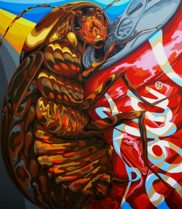 "Big Bug III / 2014 / acrylic on canvas / 48"" x 42"""