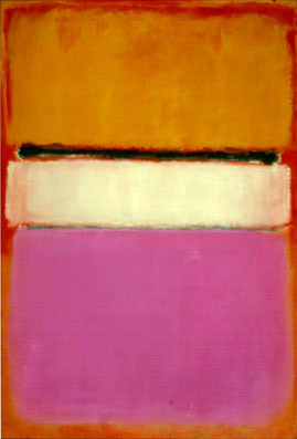 """White Center (Yellow, Pink, and Lavender on Rose) / Mark Rothko / 1950 / oil on canvas / 81"""" x 56"""""""