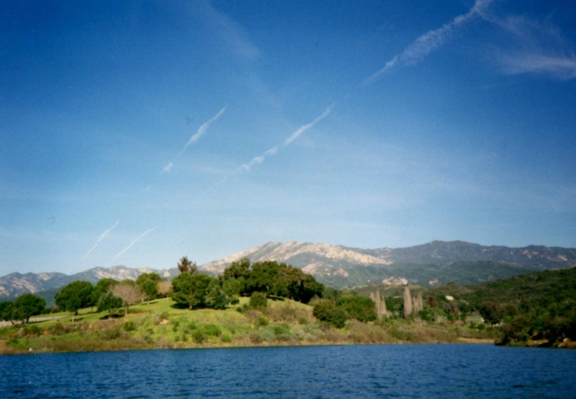 Photo taken from boat on Lake Casitas, around 1997