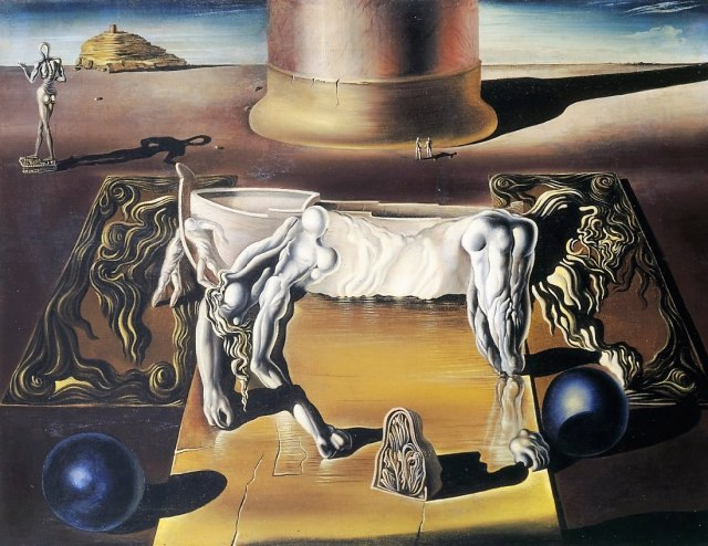 """Invisible Sleeping Woman, Horse, Lion / 1930/ Salvador Dali / oil on canvas / 50"""" x 65"""""""