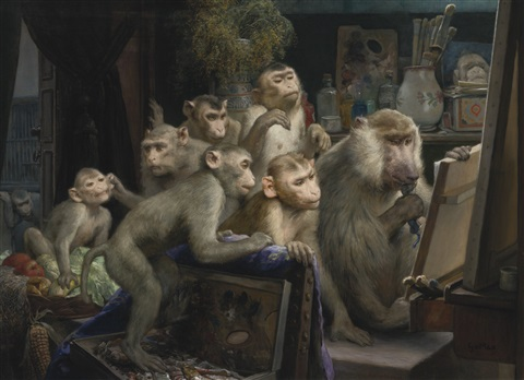 monkeys-a-visit-to-the-artists-studio